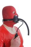 Kopfgeschirr aufblasbar Atemschlauch Option abschließbar