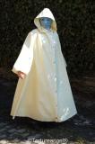 Mantel Robe Latex Kapuze wadenlang