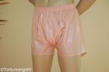 Herren Unterhose mit Eingriff Halbbein Latex