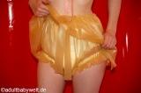 Windelhose DELUXE Latex m. Röckchen und Optionen