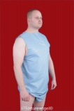 Body PVC ärmellos, Schulterdruckknöpfe