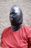 Maske Leder/Pelz