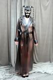 Mantel Robe PVC Schalkragen wadenlang