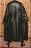 Mantel Robe Latex Schalkragen wadenlang
