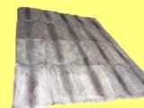 Nutria-Decke, Echtpelz, 180x180 cm