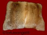 Pelzkissen beidseitig 50x50 cm, Nutria, Fuchspelz, Hamster, Bisam oder Marderhund