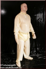 Punish Suit / nappie overall PVC lockable