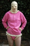 Babydoll latex complete shirt plus frilly diaperslip