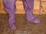 Bed shoes ankle-length fabric, lockable-option