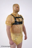 Chest walk-harness with small chest plate incl. leading cord