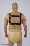 Chest walk-harness with big chest plate incl. leading cord