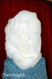 Headsack/hood rabbitfur double