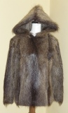 Double fur hoodie/pullover - fur in- and outside